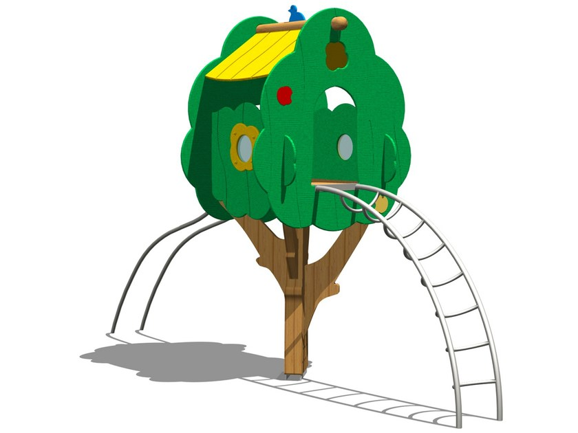 Pine Play structure TREE TOWER 200T-2 by Legnolandia