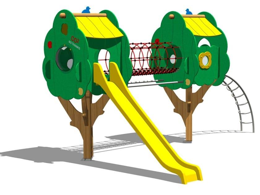 Pine Slide / Overhead ladder TREE CASTLE 8 by Legnolandia