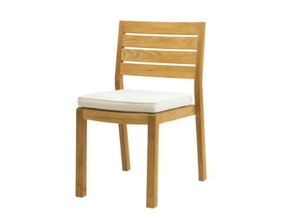 Stackable teak garden chair AMBRA | Garden chair by Ethimo