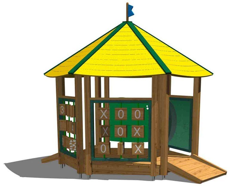 Pine Play structure / Playhouse for playground YOUNG | Playhouse for playground by Legnolandia