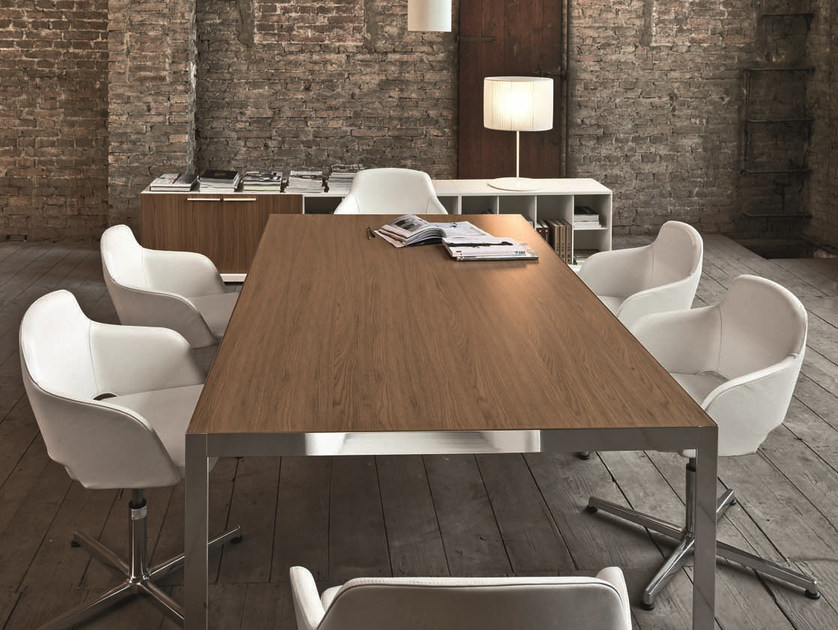 Rectangular meeting table FRAME + MEETING by Sinetica
