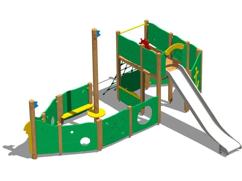 Wooden Play structure GALEONE INOX by Legnolandia