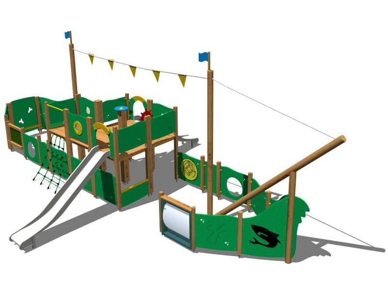 Wooden Play structure GOLETTA INOX by Legnolandia
