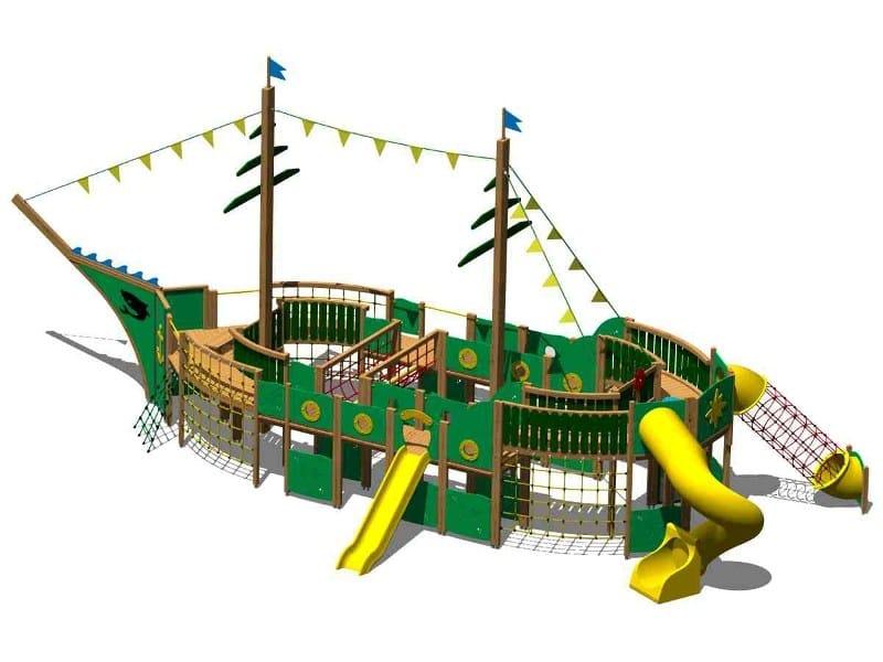 Wooden Play structure VELIERO by Legnolandia