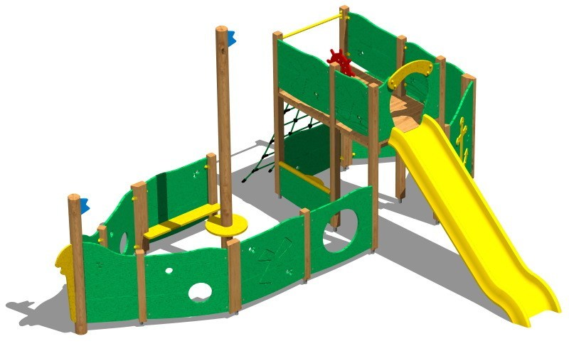 Wooden Play structure GALEONE by Legnolandia