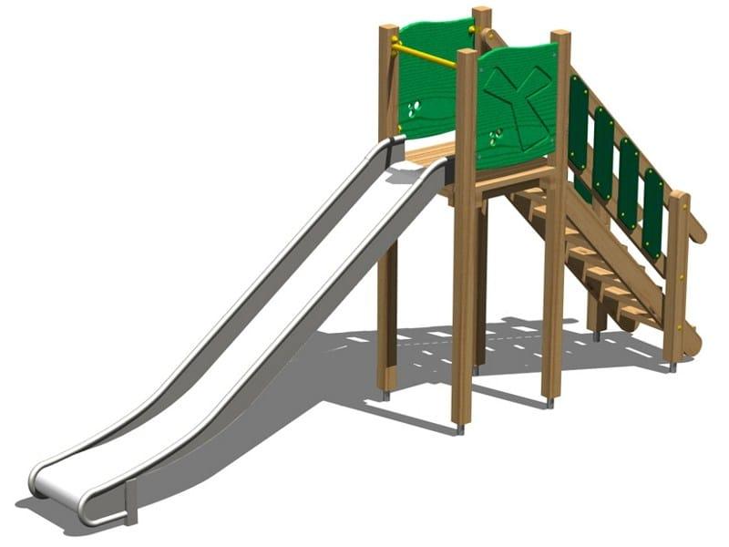 Wooden Slide SCOIATTOLO 150 INOX by Legnolandia
