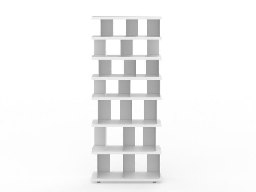 Open MDF bookcase BIEG by Tojo Möbel