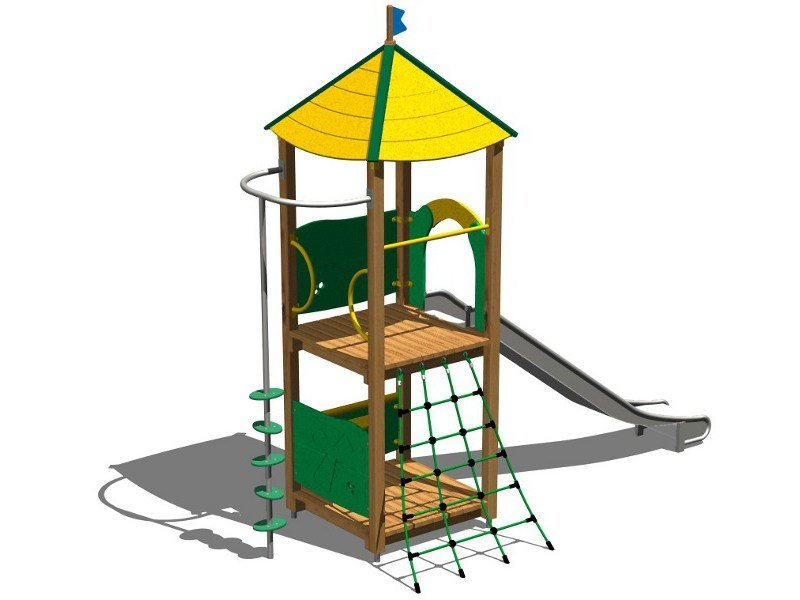 Wooden Play structure VOLPE INOX by Legnolandia
