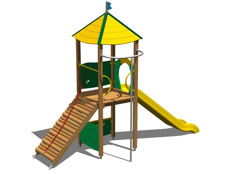 Wooden Play structure LINCE by Legnolandia