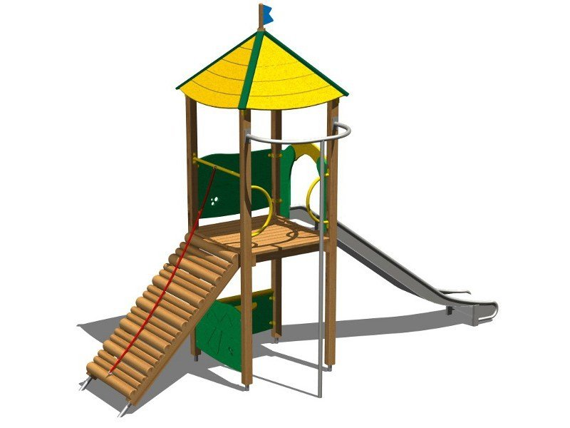 Wooden Play structure LINCE INOX by Legnolandia
