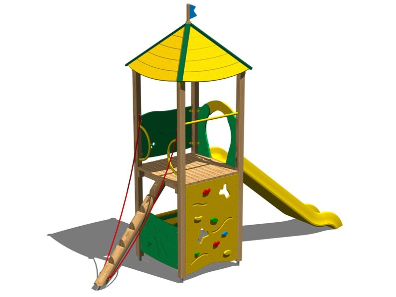 Polyethylene Play structure / Slide LUPO by Legnolandia