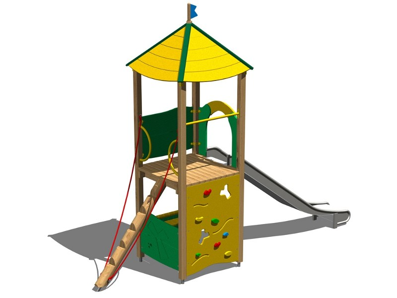 Stainless steel Play structure / Slide LUPO INOX by Legnolandia