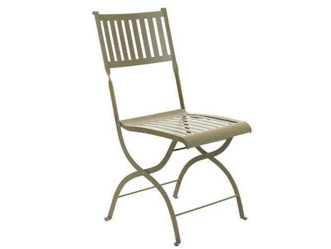 Folding metal garden chair ELISIR | Metal chair by Ethimo