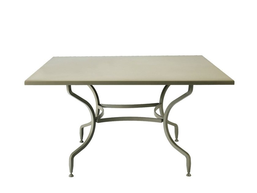 Square steel garden table ELISIR | Square table by Ethimo