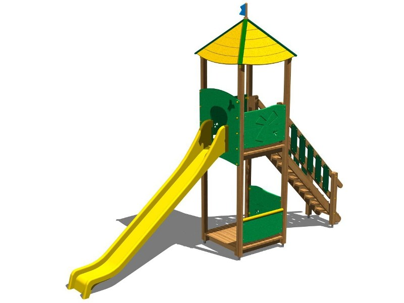 Polyethylene Play structure / Slide TORRE LONTRA 200 by Legnolandia