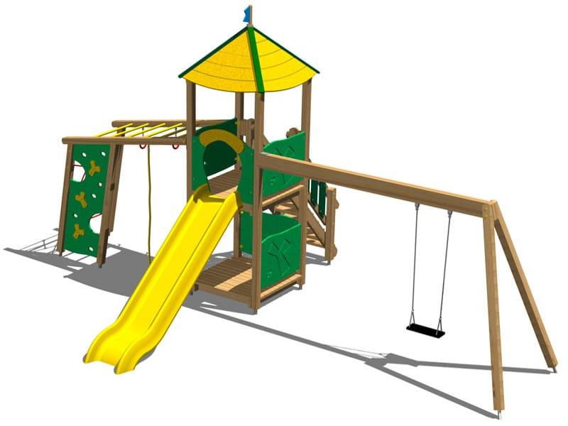 Pine Play structure TORRE RENNA by Legnolandia