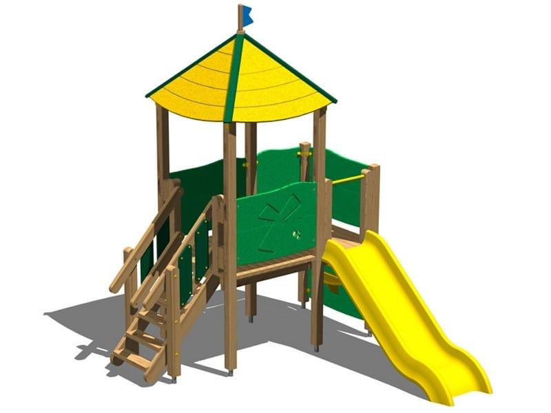 Polyethylene Play structure / Slide TORRE MARTORA by Legnolandia