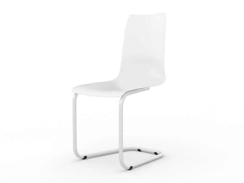 Cantilever polypropylene chair STUHL by Tojo Möbel