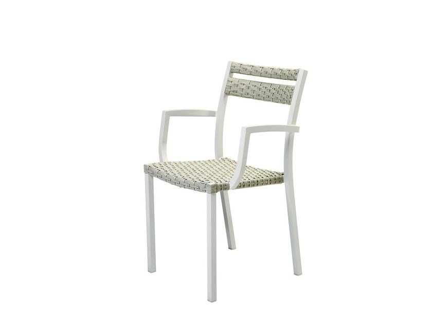 Ethimo LightWick® garden chair with armrests INFINITY | Garden chair by Ethimo