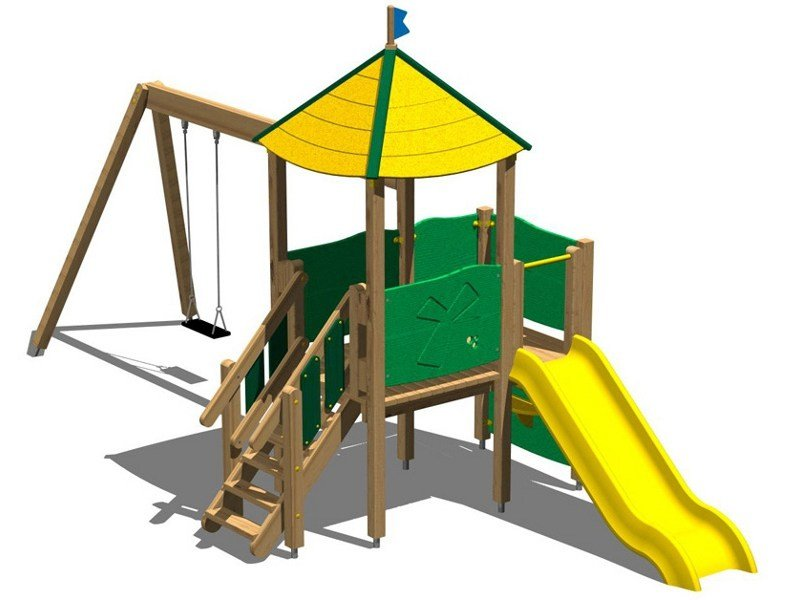 Pine Play structure TORRE MARMOTTA by Legnolandia