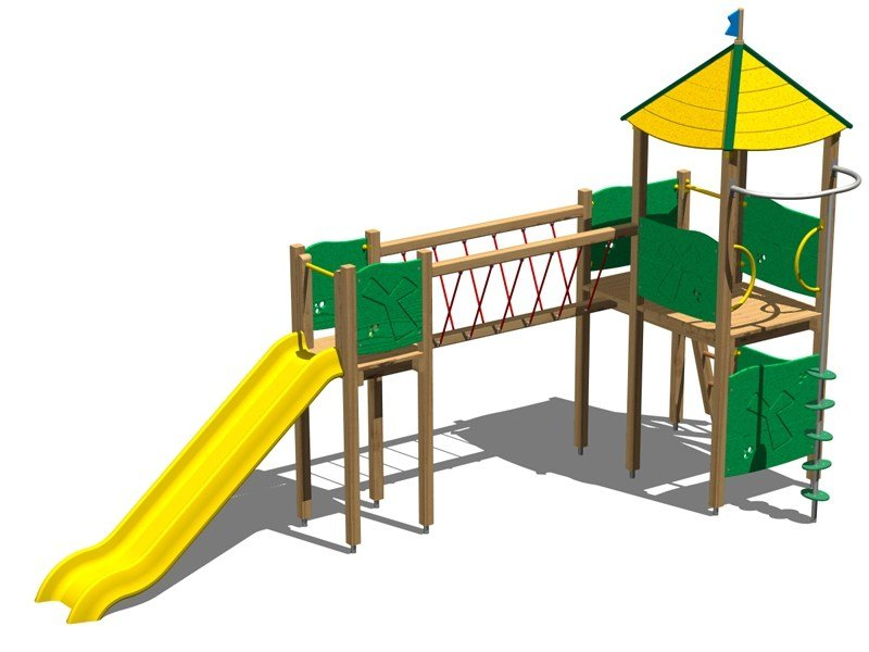 Pine Play structure CASTELLO ALCE by Legnolandia