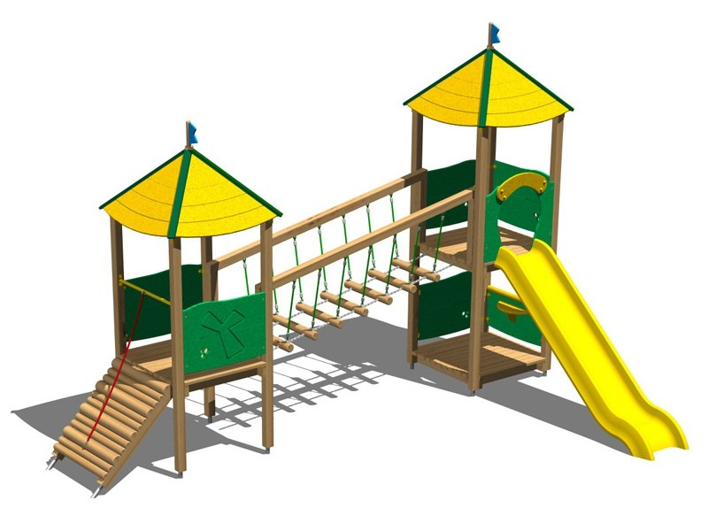 Pine Play structure CASTELLO SELVA by Legnolandia
