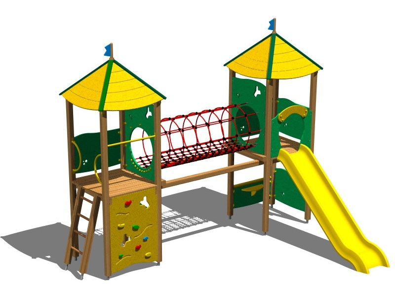 Pine Play structure CASTELLO PAMPA by Legnolandia