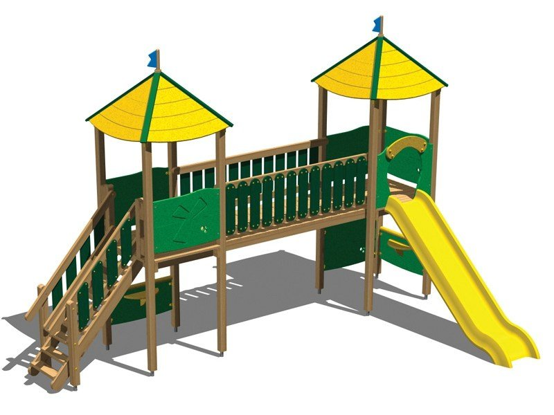 Wooden Play structure CASTELLO OASI by Legnolandia