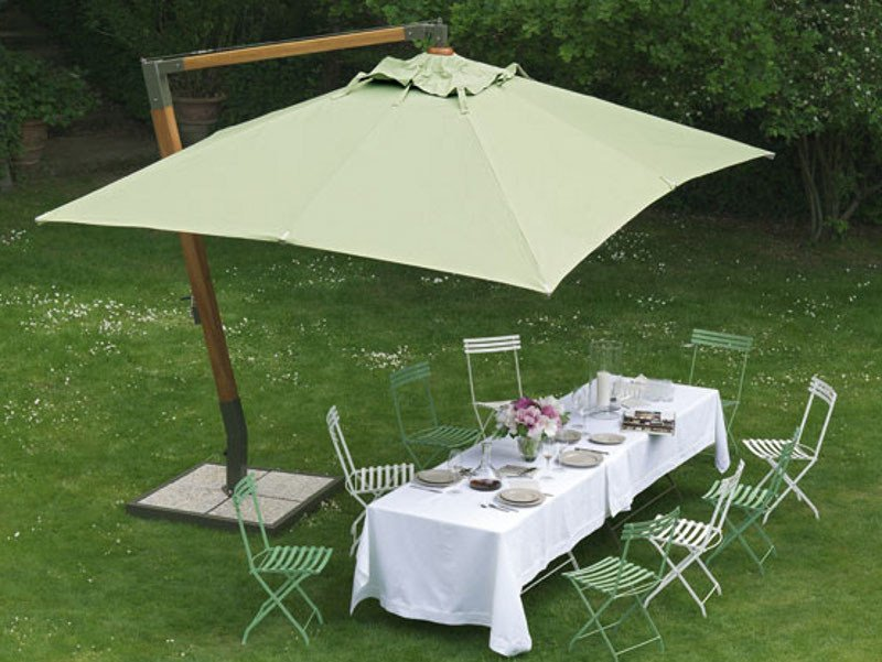 Offset rectangular Garden umbrella HOLIDAY | Rectangular Garden umbrella by Ethimo