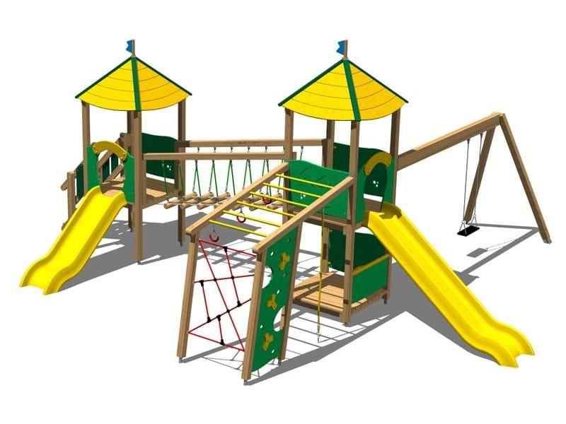 Pine Play structure CASTELLO FORESTA by Legnolandia