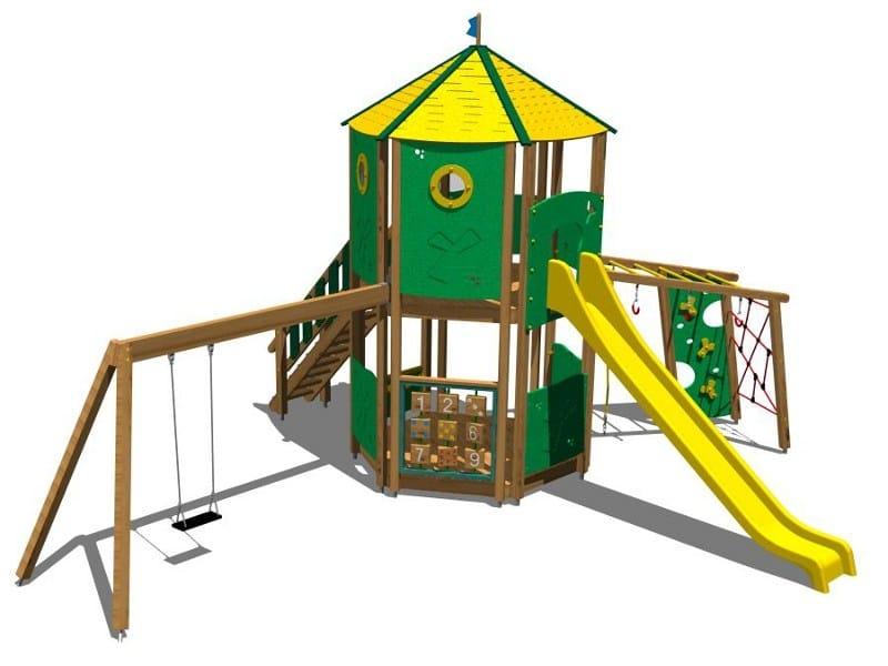 Pine Play structure CASTELLO DOLOMITI by Legnolandia