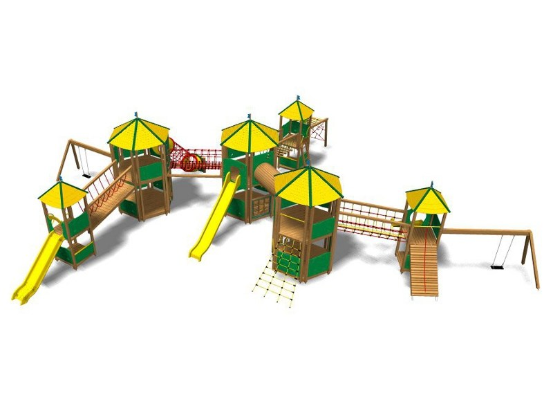 Pine Play structure CASTELLO HIMALAYA MAXI by Legnolandia