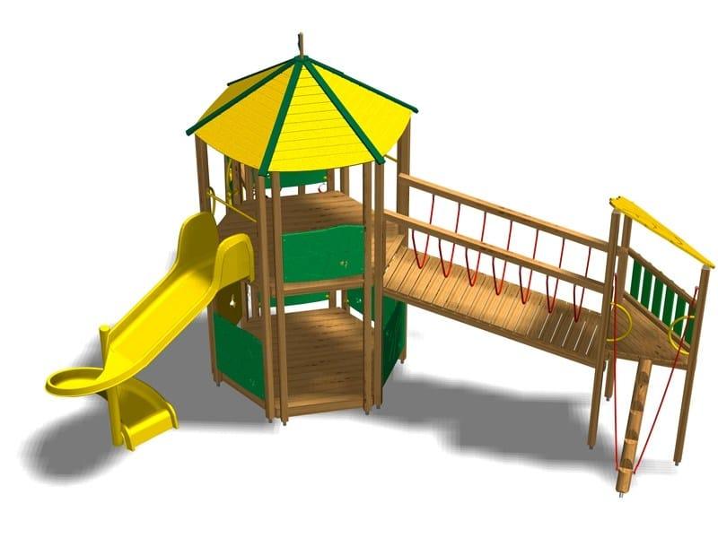 Pine Play structure / Slide CASTELLO ALPI by Legnolandia