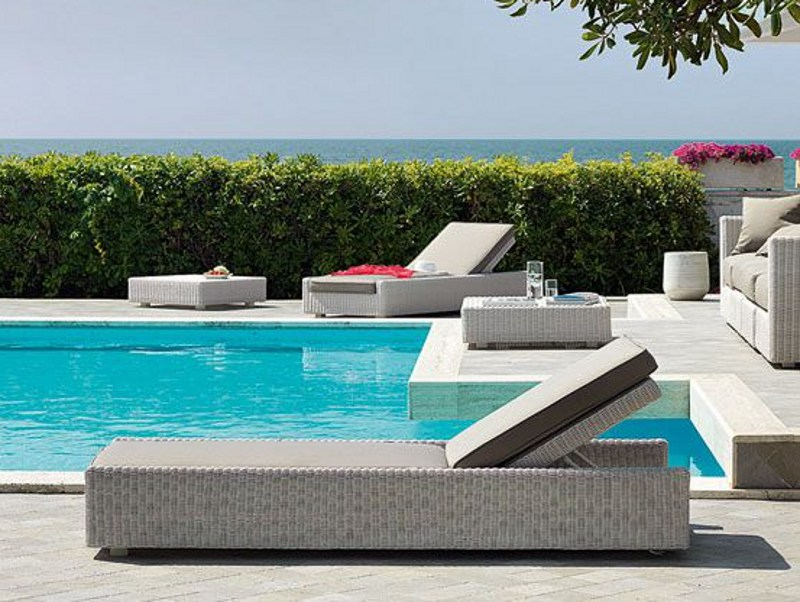 Ethimo EtWick® garden daybed CUBE | Garden daybed by Ethimo