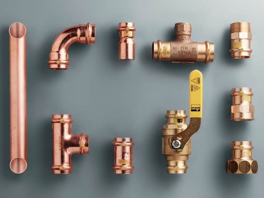 Pipe for domestic gas network PROFIPRESS G by Viega Italia
