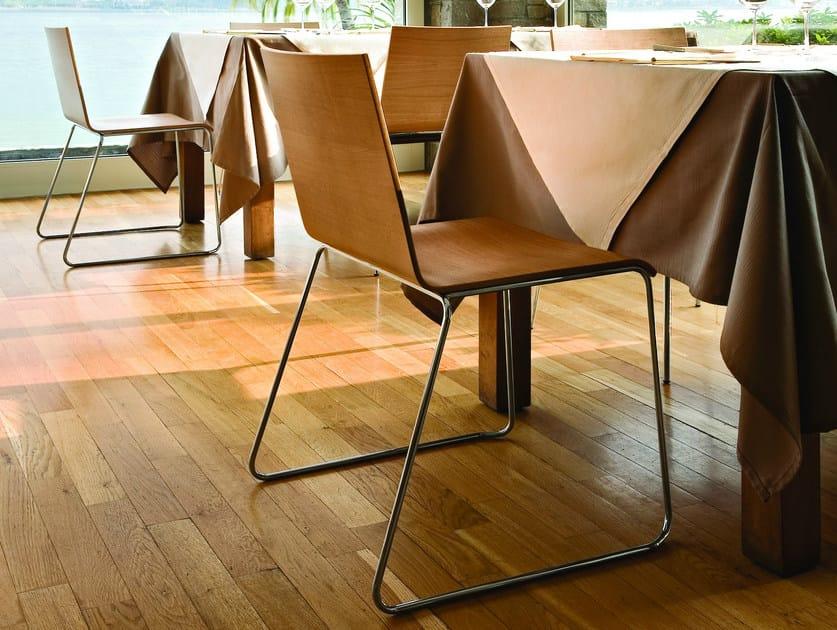 Sedia a slitta in legno