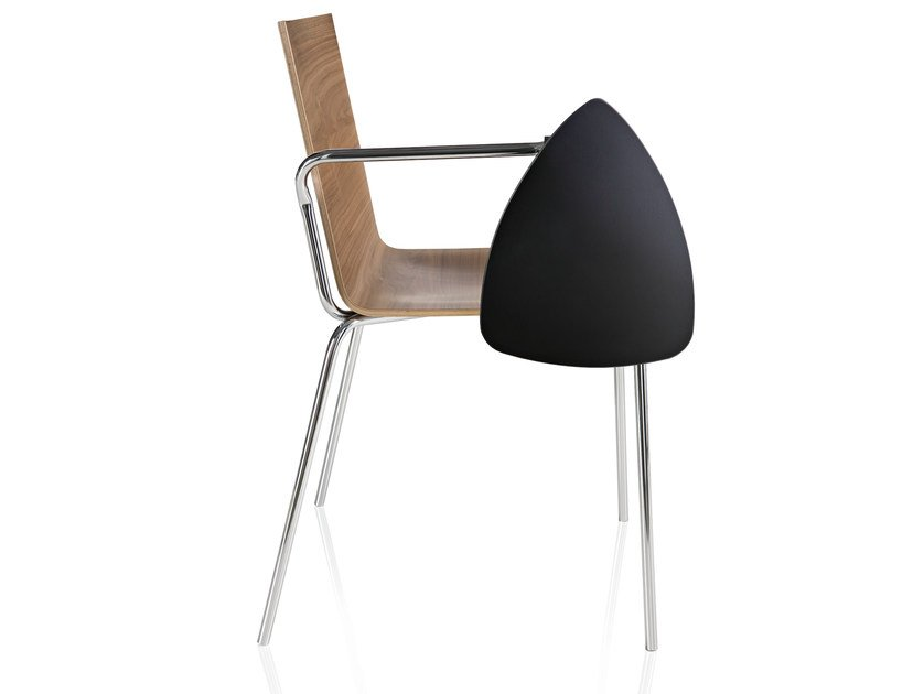 Wooden chair with armrests CASABLANCA | Chair by ALMA DESIGN