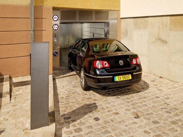 PARKSAFE Entrata al sistema di parcheggio automatizzato Parksafe