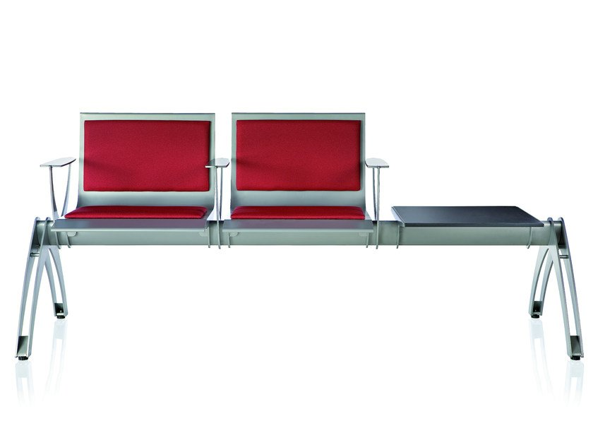 Steel beam seating with armrests TERMINAL | Beam seating by ALMA DESIGN