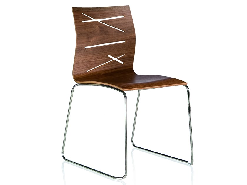 Sled base stackable chair TODD | Sled base chair by ALMA DESIGN