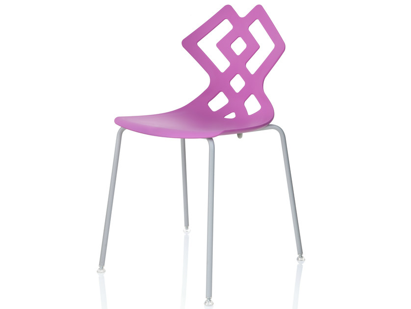 Stackable polypropylene chair ZAHIRA | Stackable chair by ALMA DESIGN