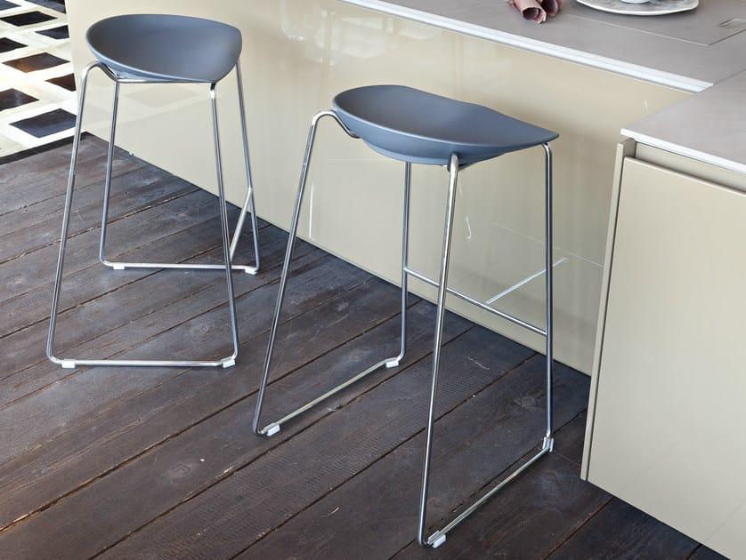 Sled base stackable stool JOHN JOHN by ALMA DESIGN