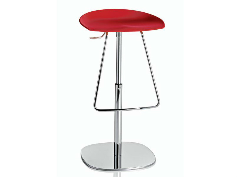 Swivel height-adjustable stool with footrest ROBIN by ALMA DESIGN