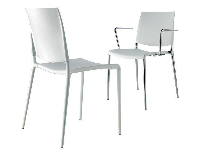 Stackable polypropylene chair ALEXA | Stackable chair by REXITE