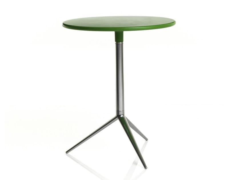Folding round aluminium table CIAK | Aluminium table by ALMA DESIGN