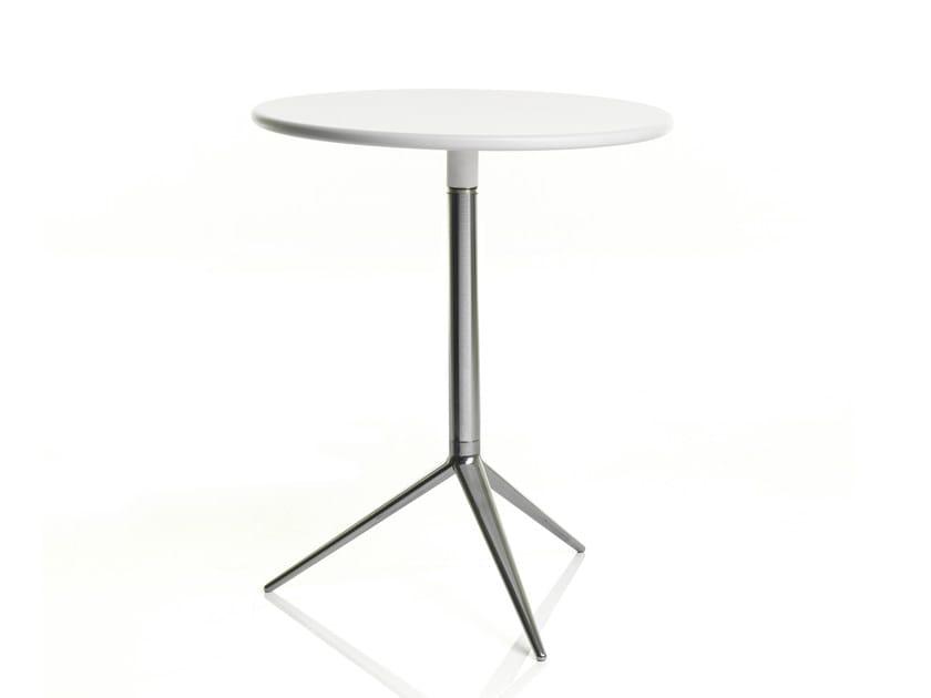 Tavolo rotondo in alluminio
