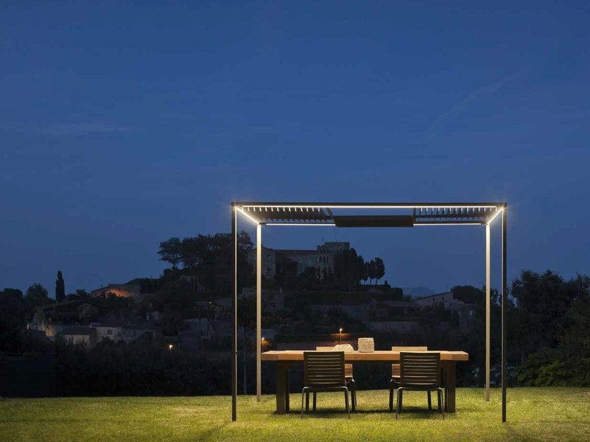 Gazebo with built-in lights PALO ALTO by Vibia