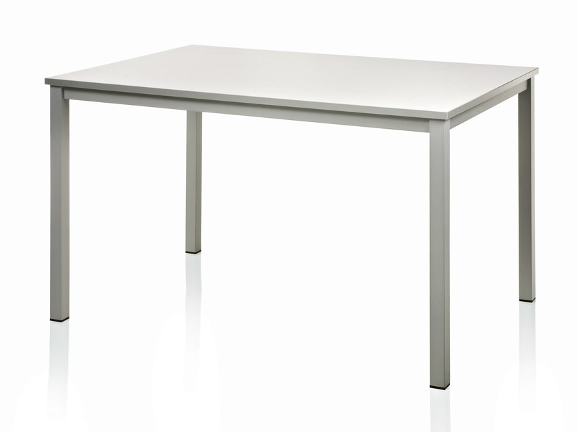 Rectangular steel table METRIKO by ALMA DESIGN