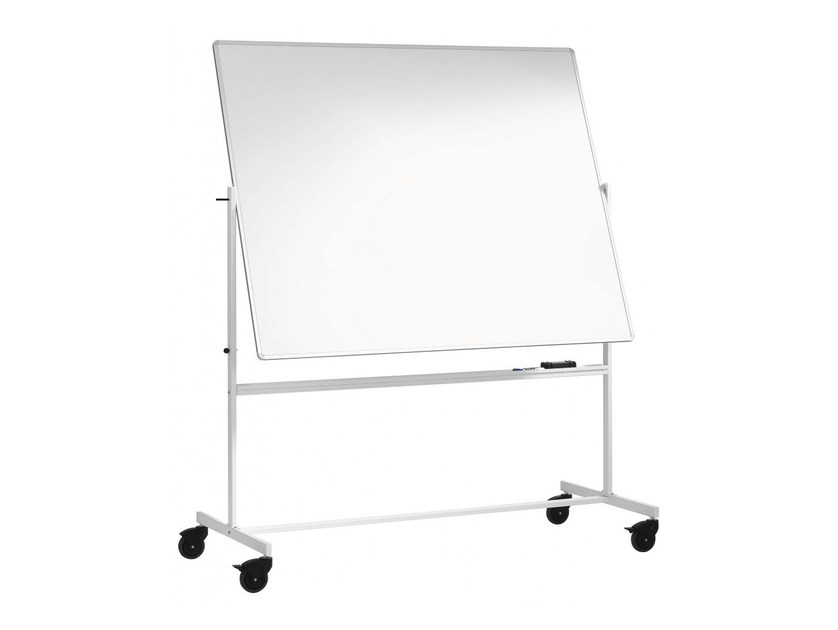 Swivel office whiteboard with casters MOBILE BOARDS by Abstracta