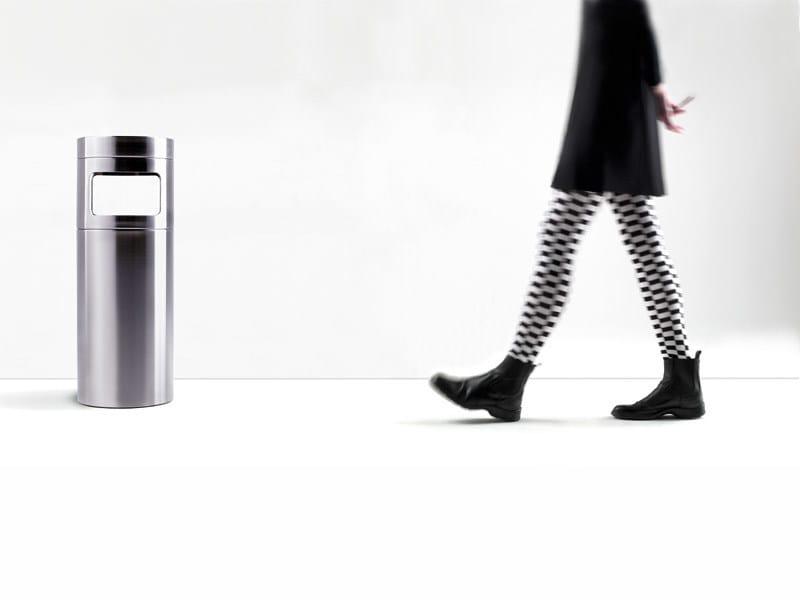 Stainless steel waste paper bin NOX | Waste paper bin by REXITE